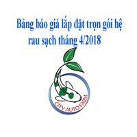 Báo giá lắp đặt trọn gói tháng 4/2018 các mô hình trồng rau sạch tại Hà Nội